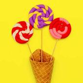 Fotografie Mode Lutscher Mix Sweet Minimal Ice Flatlay Kunst