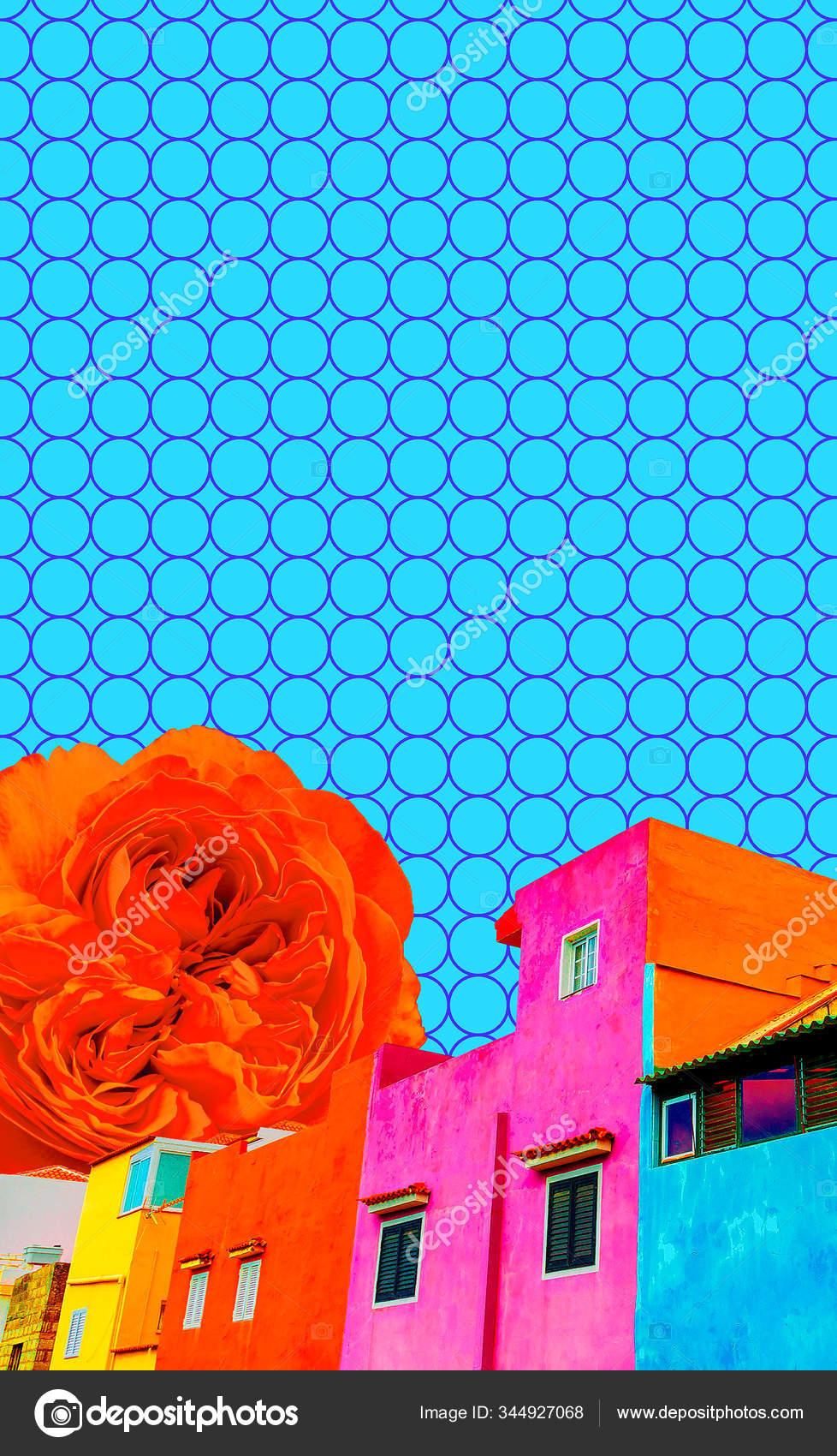 Aesthetic Collage Wallpaper Colorfull Arhitecture And Geometry