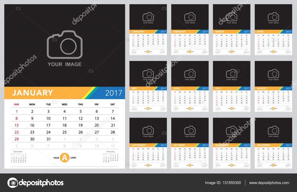 Kalendervorlage Vektor — Stockvektor © kanate #131555300