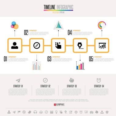 Infographics template with icons set