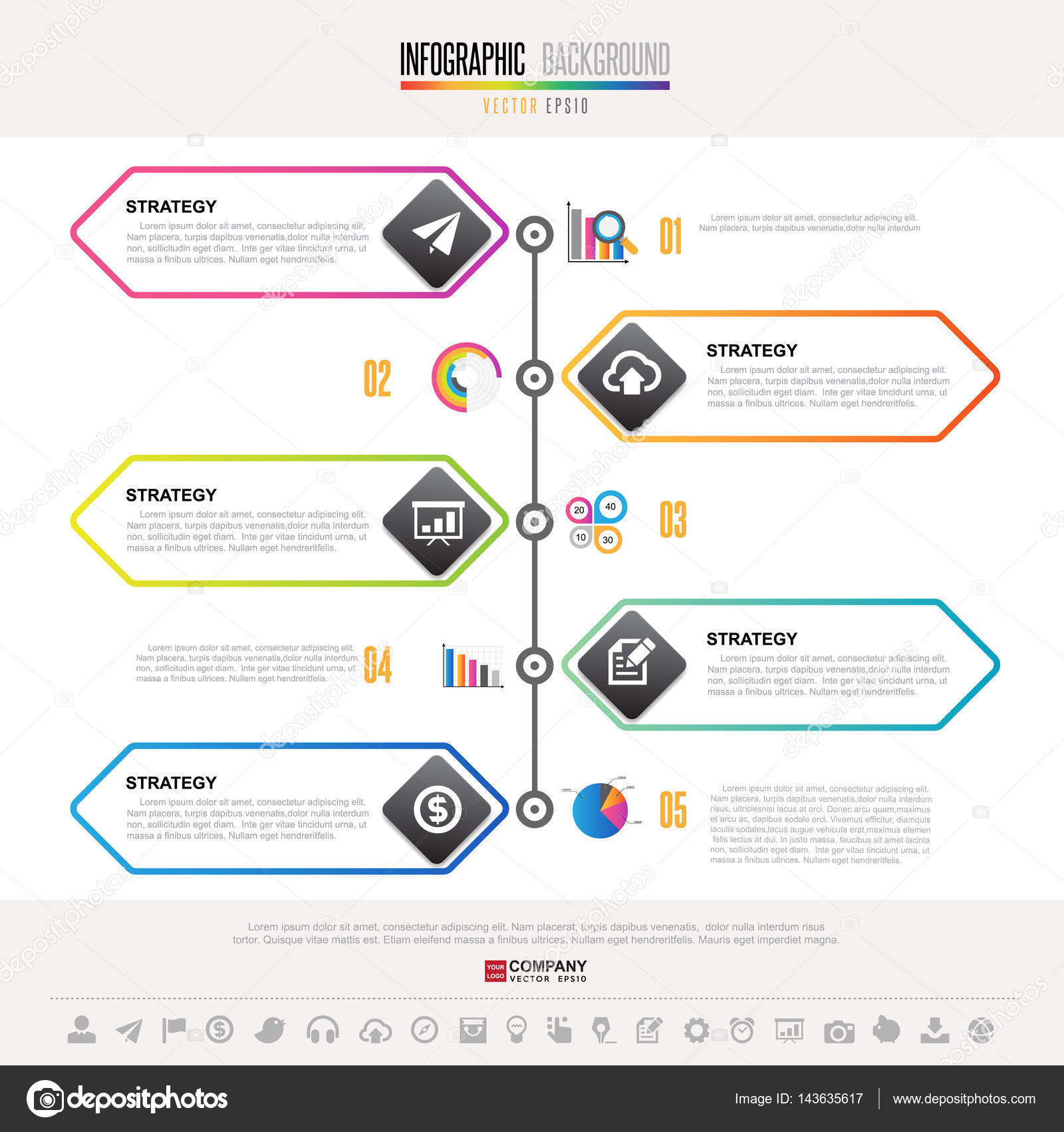 timeline infographics design template stock vector kanate 143635617