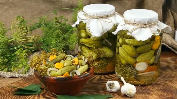 marinated cucumbers, cucumbers in a bowl, Cucumber pickle set