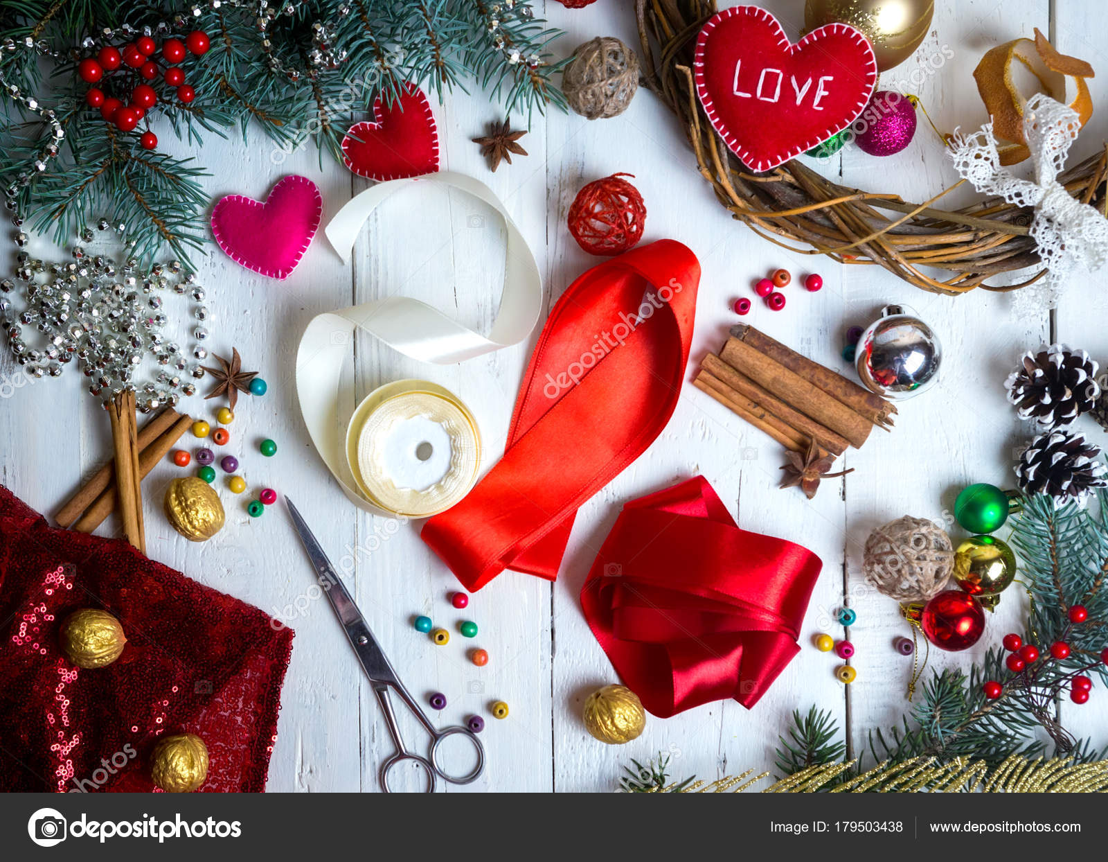 Valentines Day Christmas Handmade Or Wedding Decorations Paint