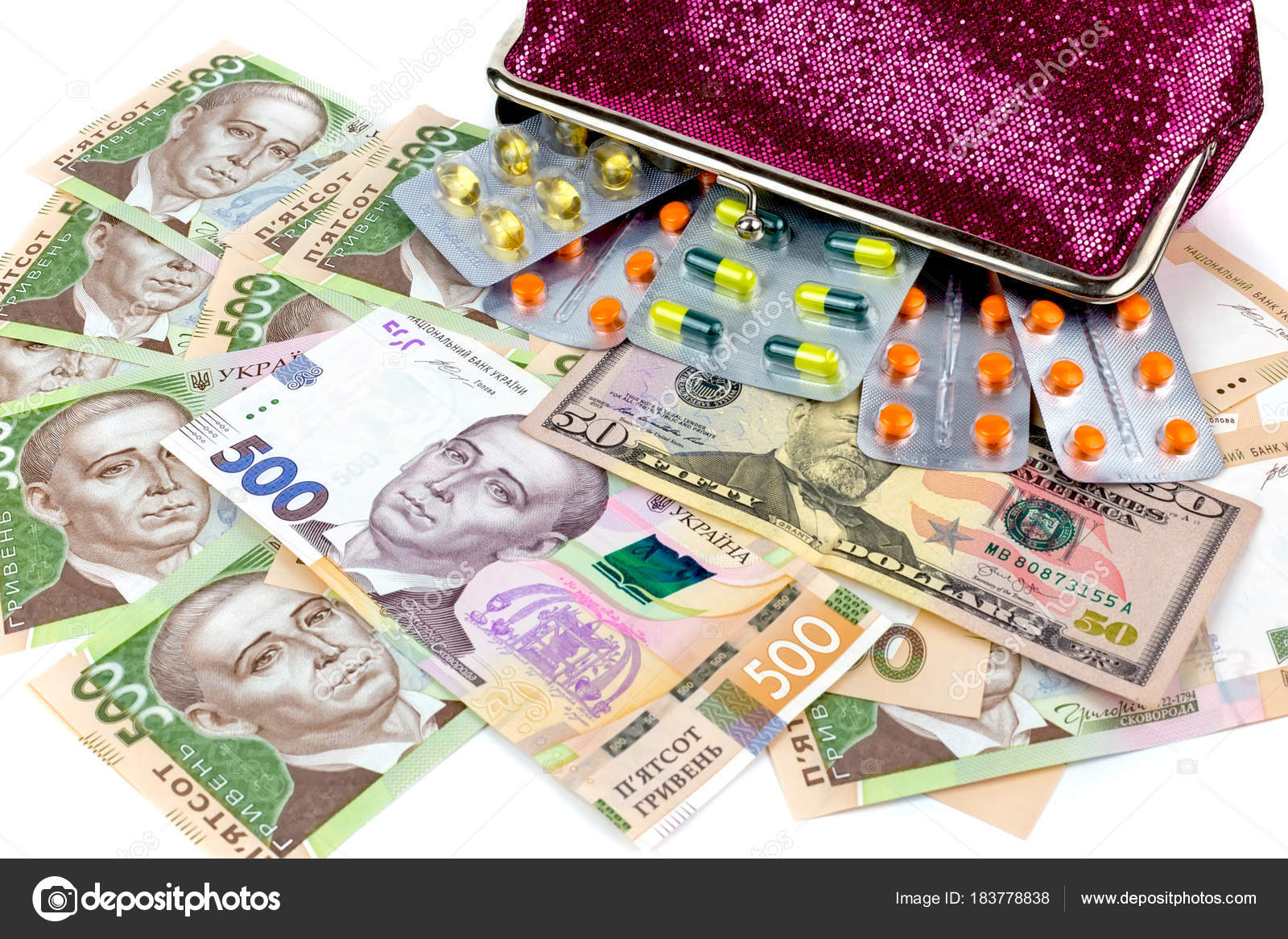 Money And Pills A Symbol Of The Rising Cost Of Medicines In The