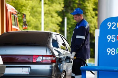 OMSK, Russia July 6, 2010: Gas stations