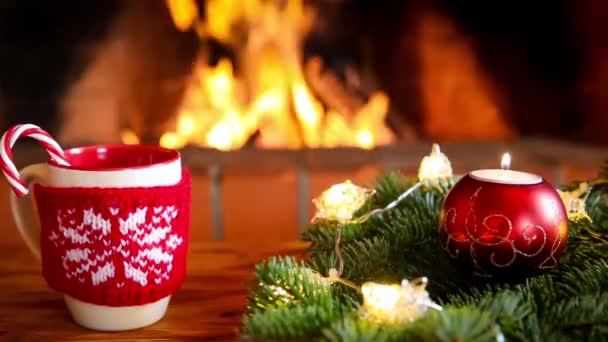 Vánoční Zátiší s krbem