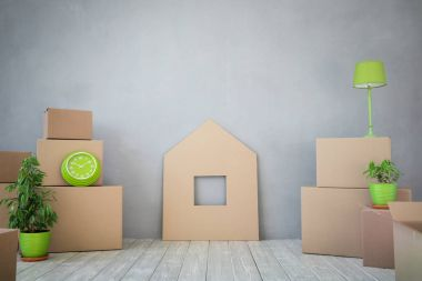 Moving House Day Concept