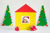 Weihnachten zu Hause Urlaub Design-Konzept