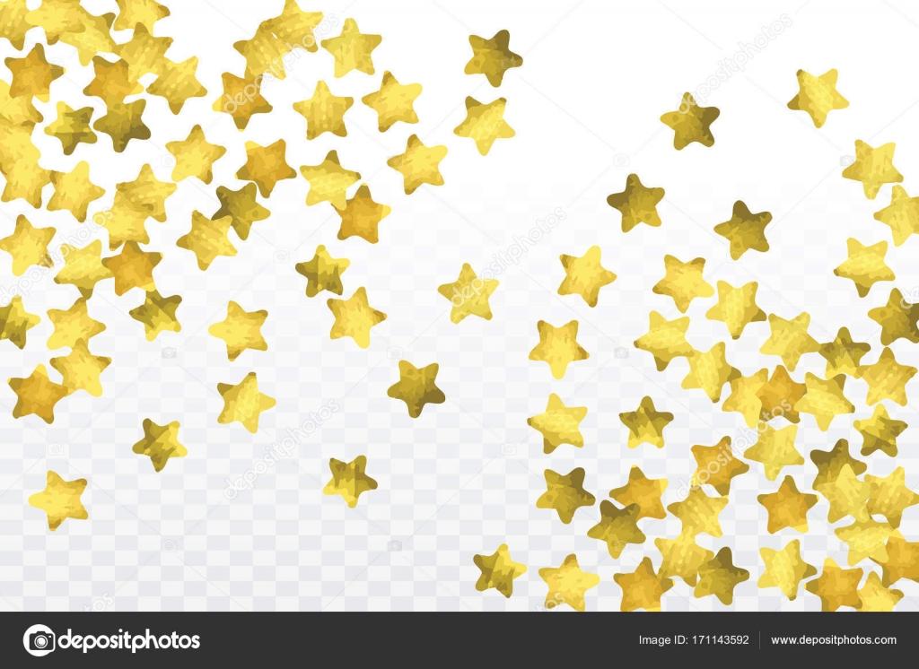 透明な背景に分離された星の紙吹雪 — ストックベクター © exoticvector