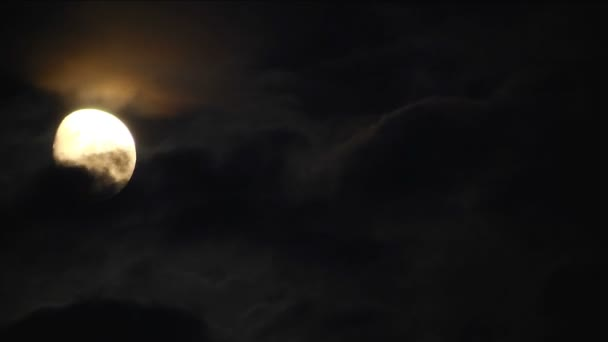 Moon With Clouds Time Lapse