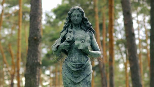 Egy szobor erdő tele középkorú nő