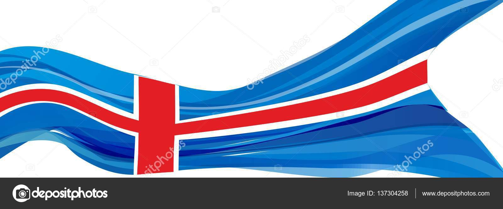 Blu Con Bianco E Croce Rossa Bandiera Della Repubblica Dislanda