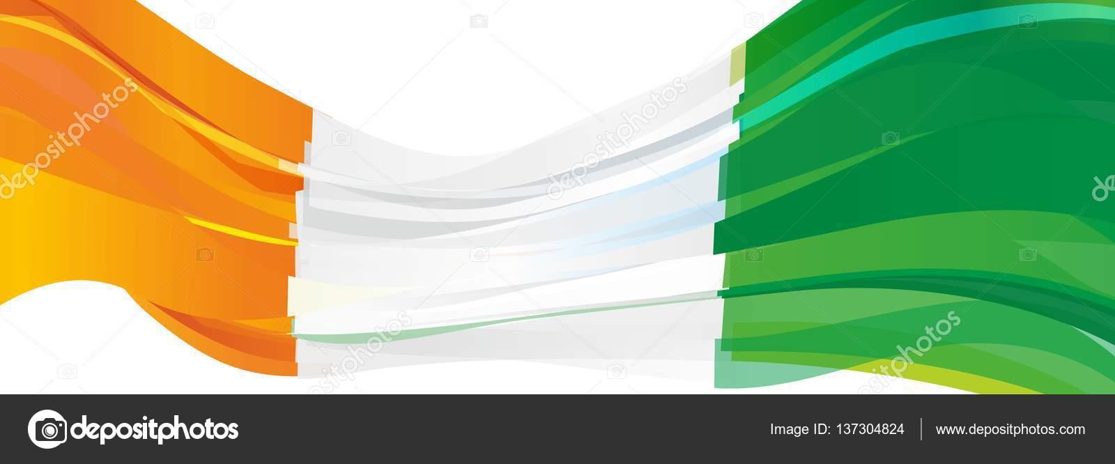 orange vit grön flagga