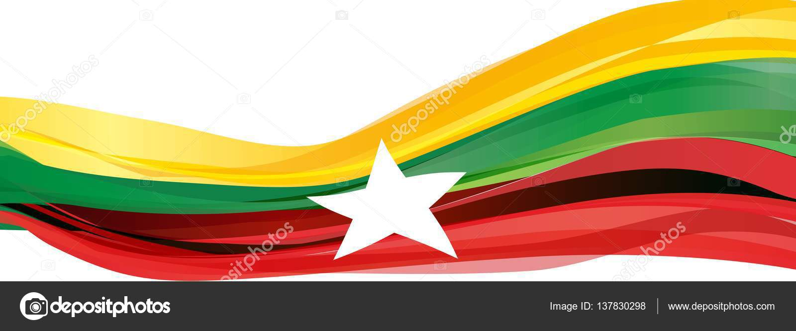 Yellow Green Red With A White Five Pointed Star Flag Of The Republic
