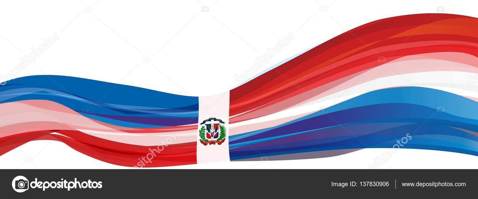 Blu Rosso Con Una Croce Bianca E Lemblema Della Bandiera Della