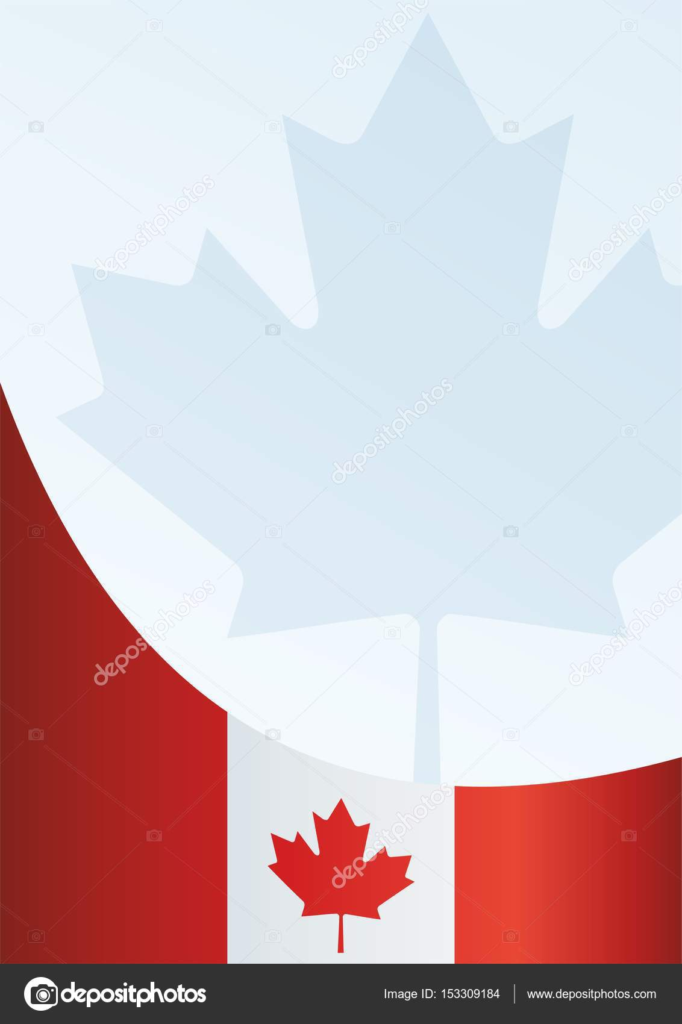 Bandera de Canadá, plantilla para el premio, un documento oficial ...