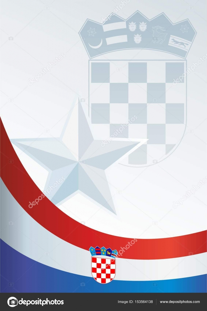 Flag Of Croatia Template For The Award An Official Document With A