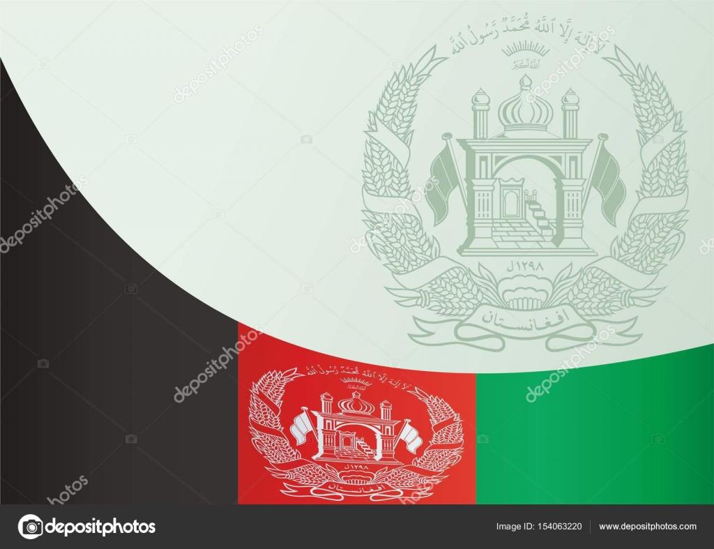 Bandera de Afganistán, plantilla para el premio, un documento ...