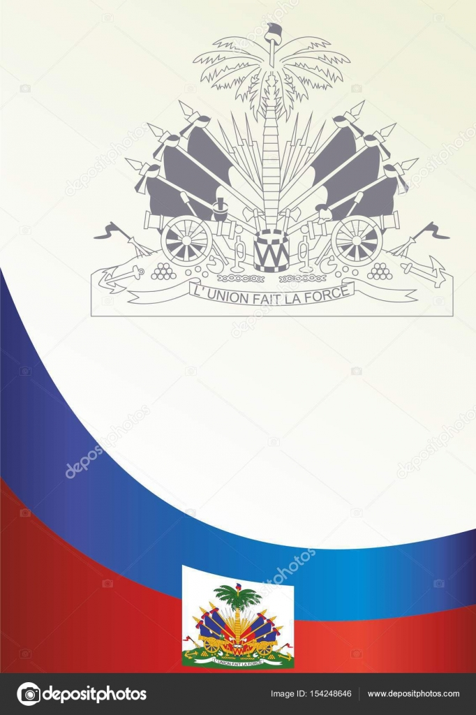 Flag Of Haiti Template For The Award An Official Document With The