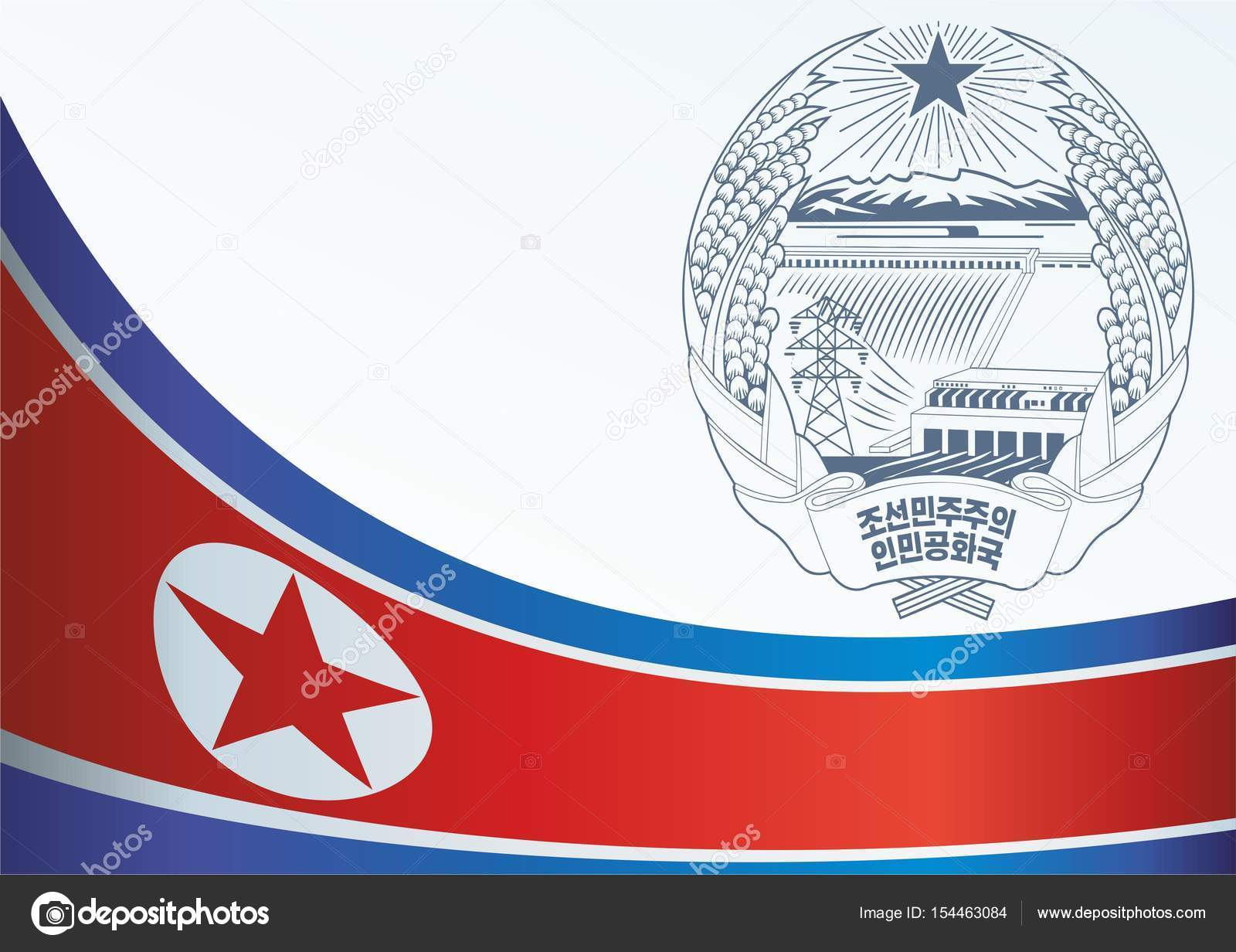 Flag Of North Korea Democratic Peoples Republic Of Korea Template