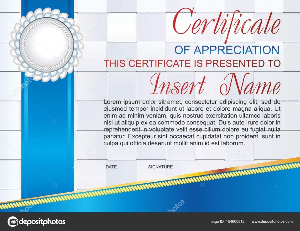 Vector template certificate of appreciation with colorful pattern vector template certificate of appreciation with colorful pattern attributes of victory and place for text yadclub Images