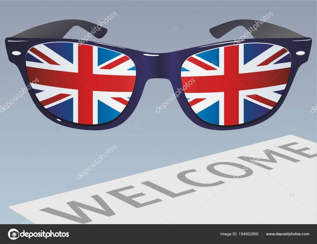 Gafas Del Reino Para De La Bandera Sol Con UnidoIlustración doQreCxBW