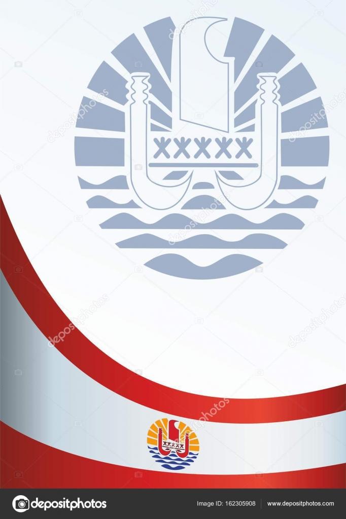 Flagge von Französisch-Polynesien, Vorlage für den Award, ein ...