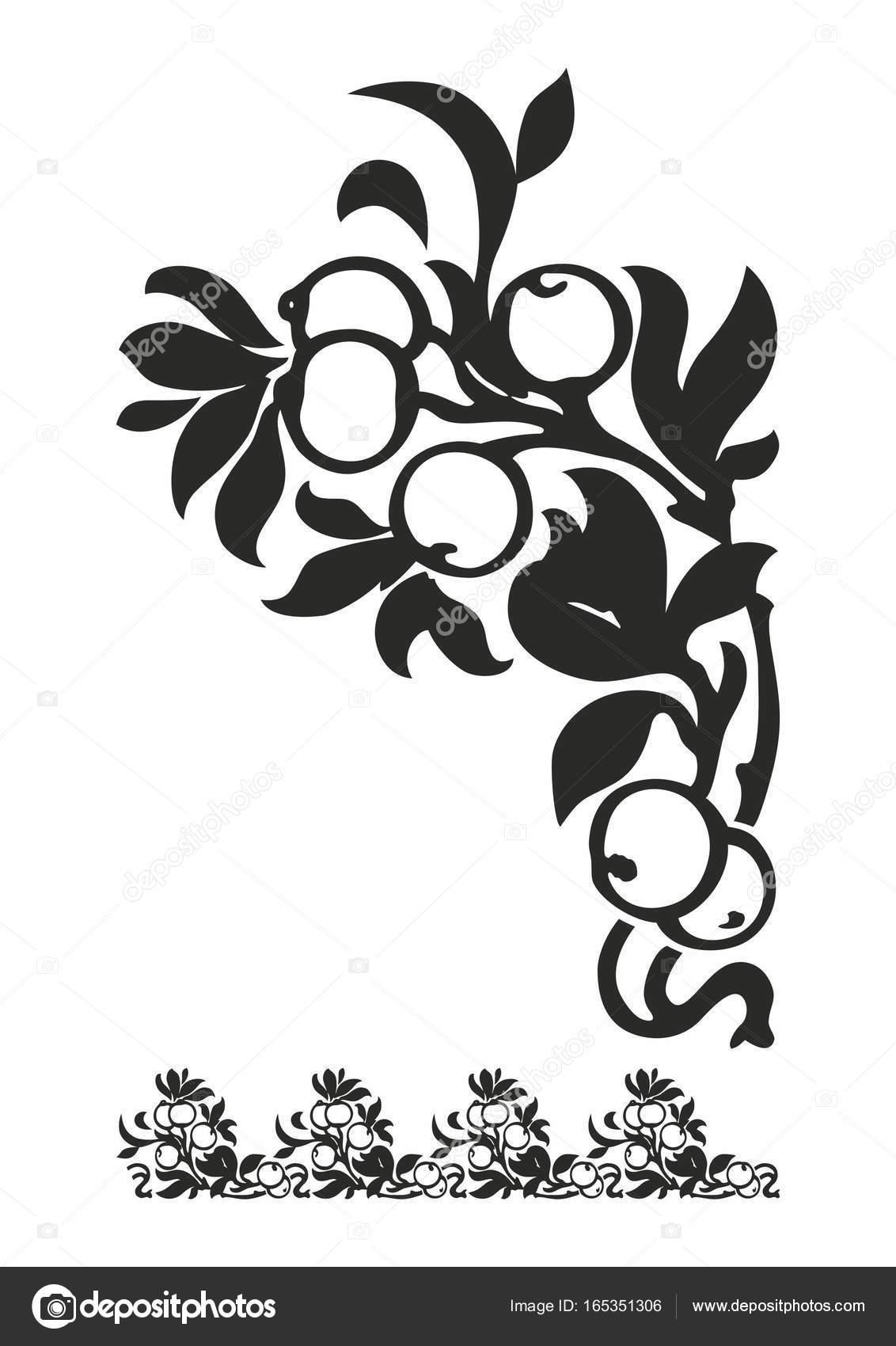 Reich verzierte Element für Design. Ornamentale Muster für ...