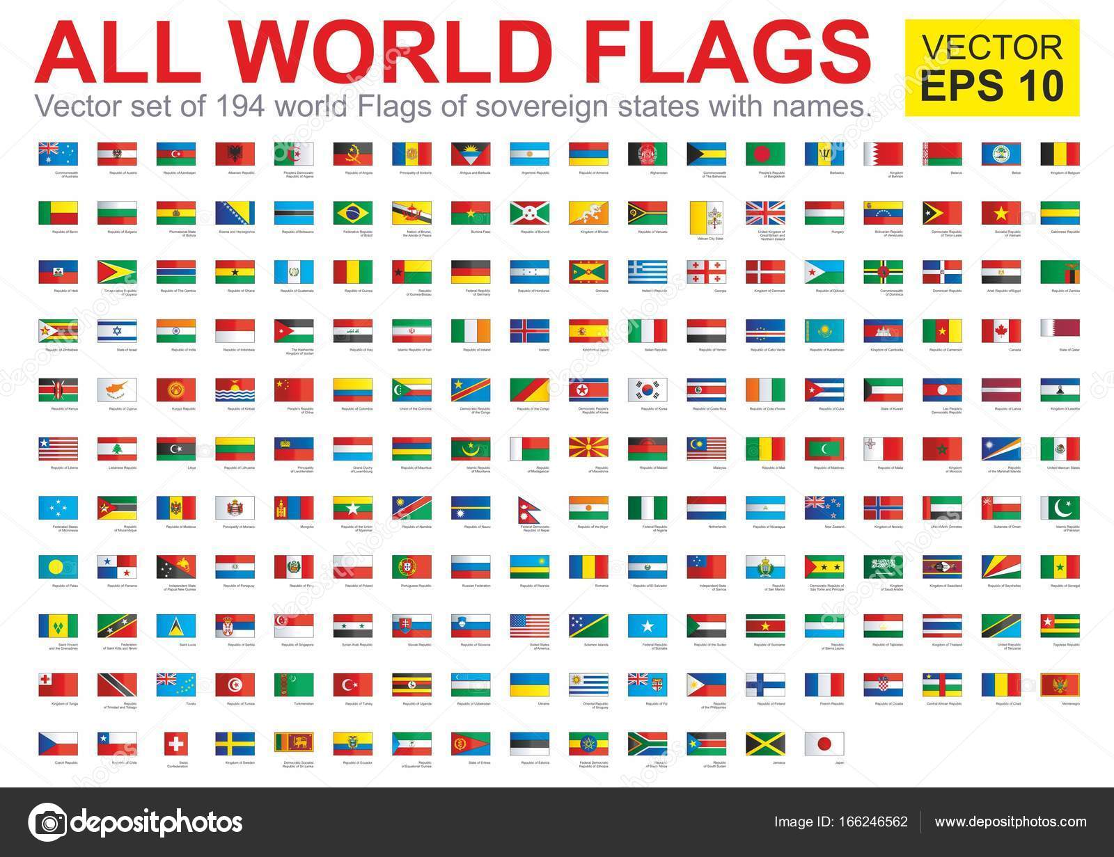 the flags of all countries of the world all sovereign states