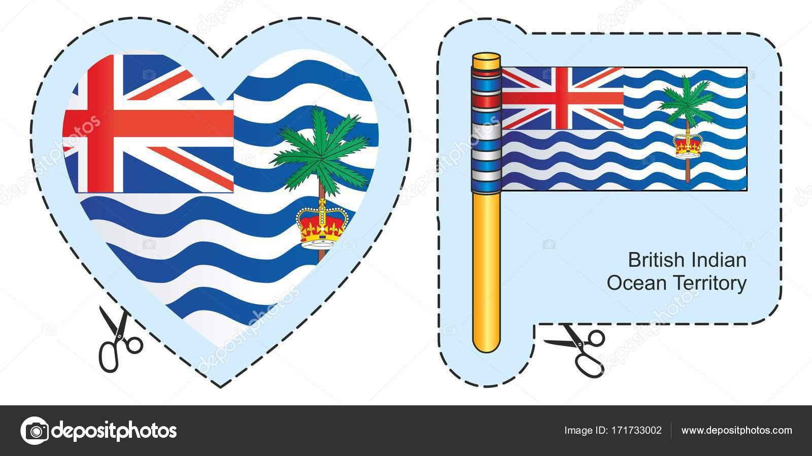 イギリス領インド洋地域の旗。ベ...