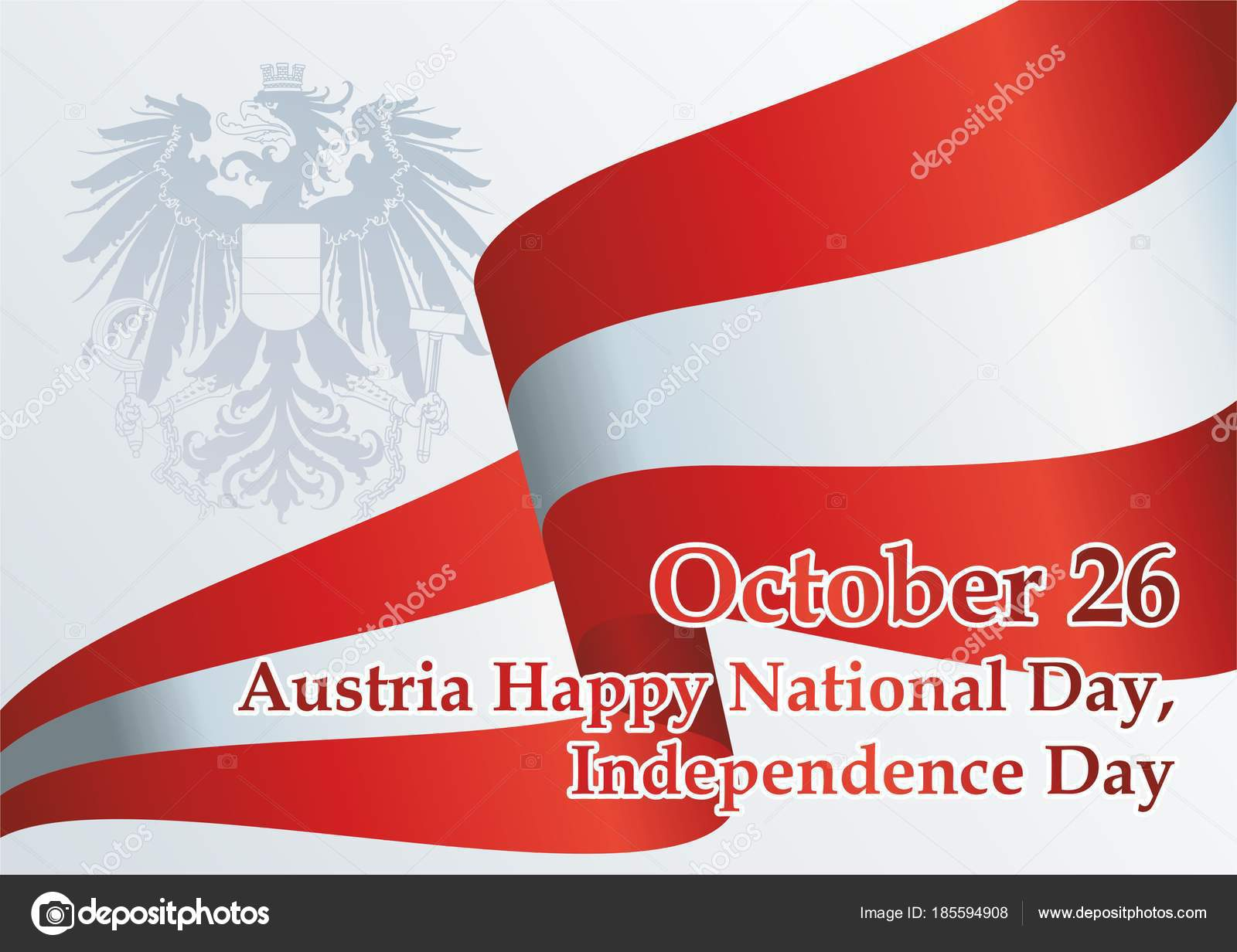 Flagge Von österreich Erklärung Der Neutralität österreich