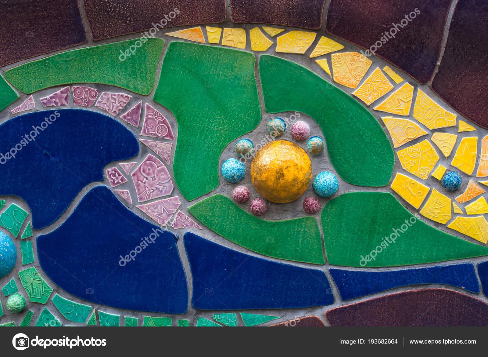 Closeup Colourful Mosaic Tiles Theme — Stock Photo