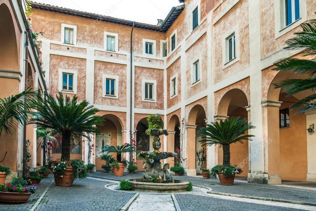 Cozy Italian courtyard