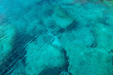 Turquoise mediterranean sea water