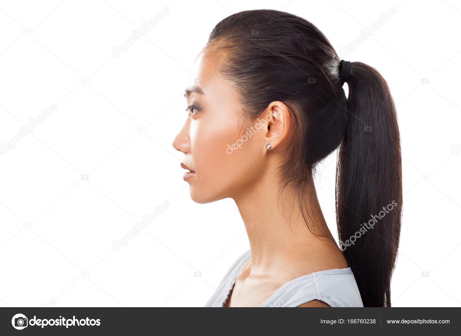 Beautiful female profile — Stock Photo © bibacomua #3778013