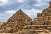 Fotografie Egyptian pyramids in of Giza, Egypt. Travel concept