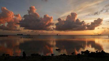 Mirrored sunset at Saipan