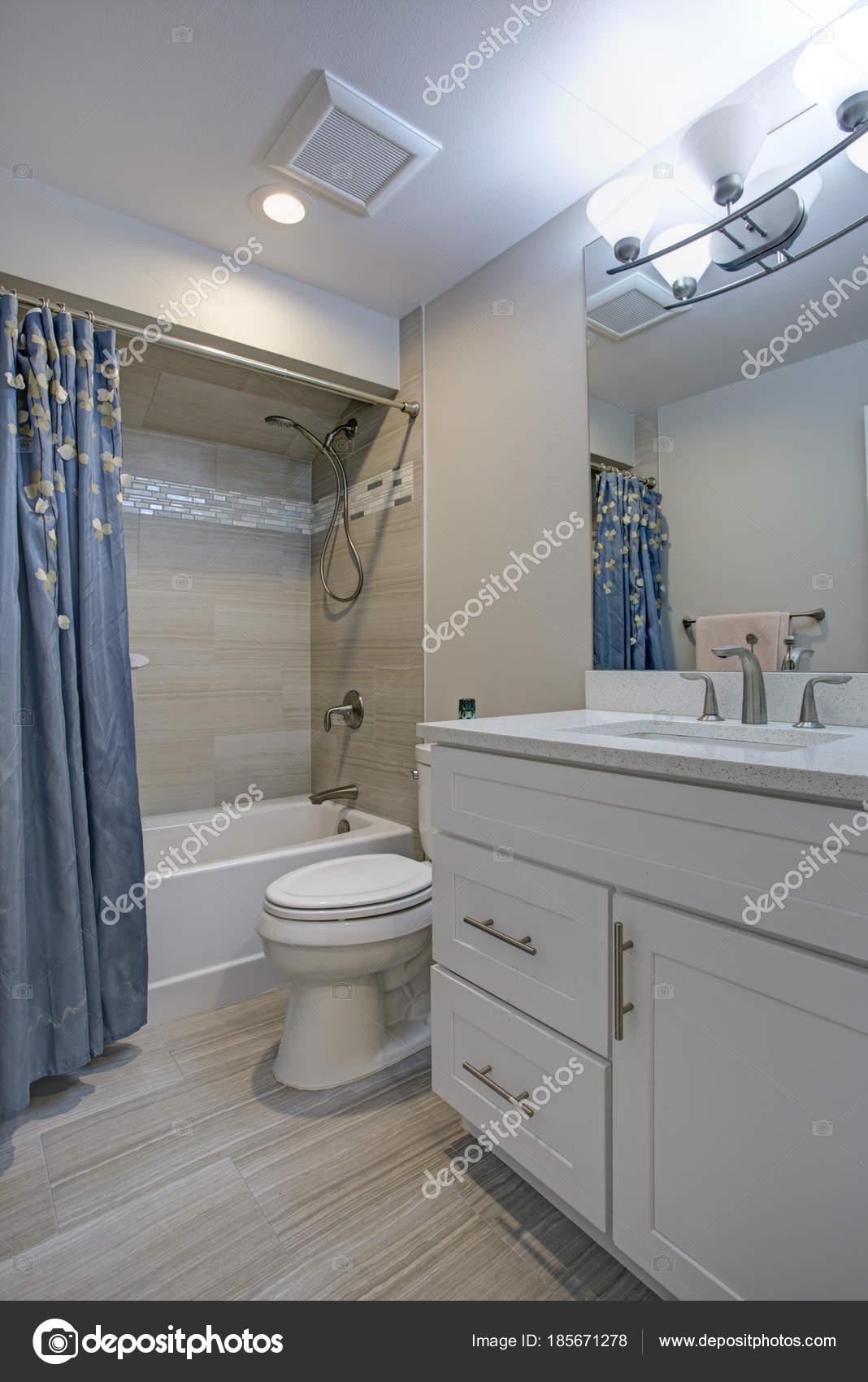 White Grey Marble Bathroom Elegant Bathroom With Marble Bathroom Floor Stock Photo C Alabn 185671278