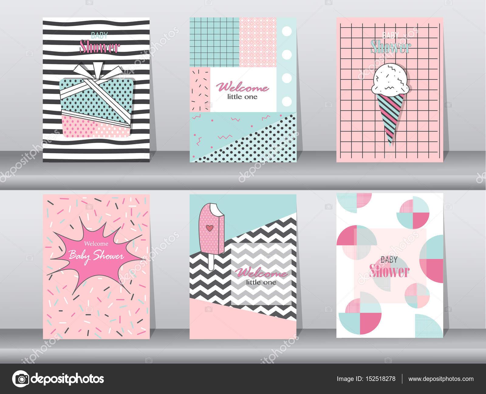 Sistema de la tarjeta de cumpleaños de diseño retro, vintage, afiche ...
