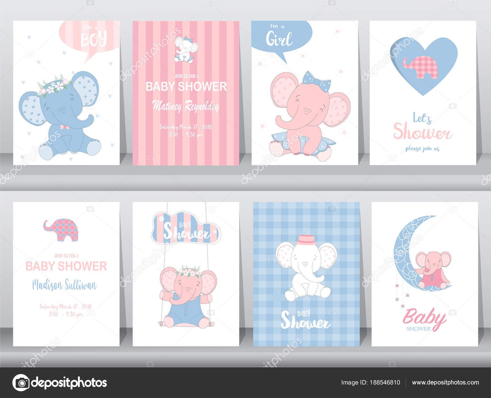 Conjunto de tarjetas de invitaciones bebé ducha tarjeta de ...