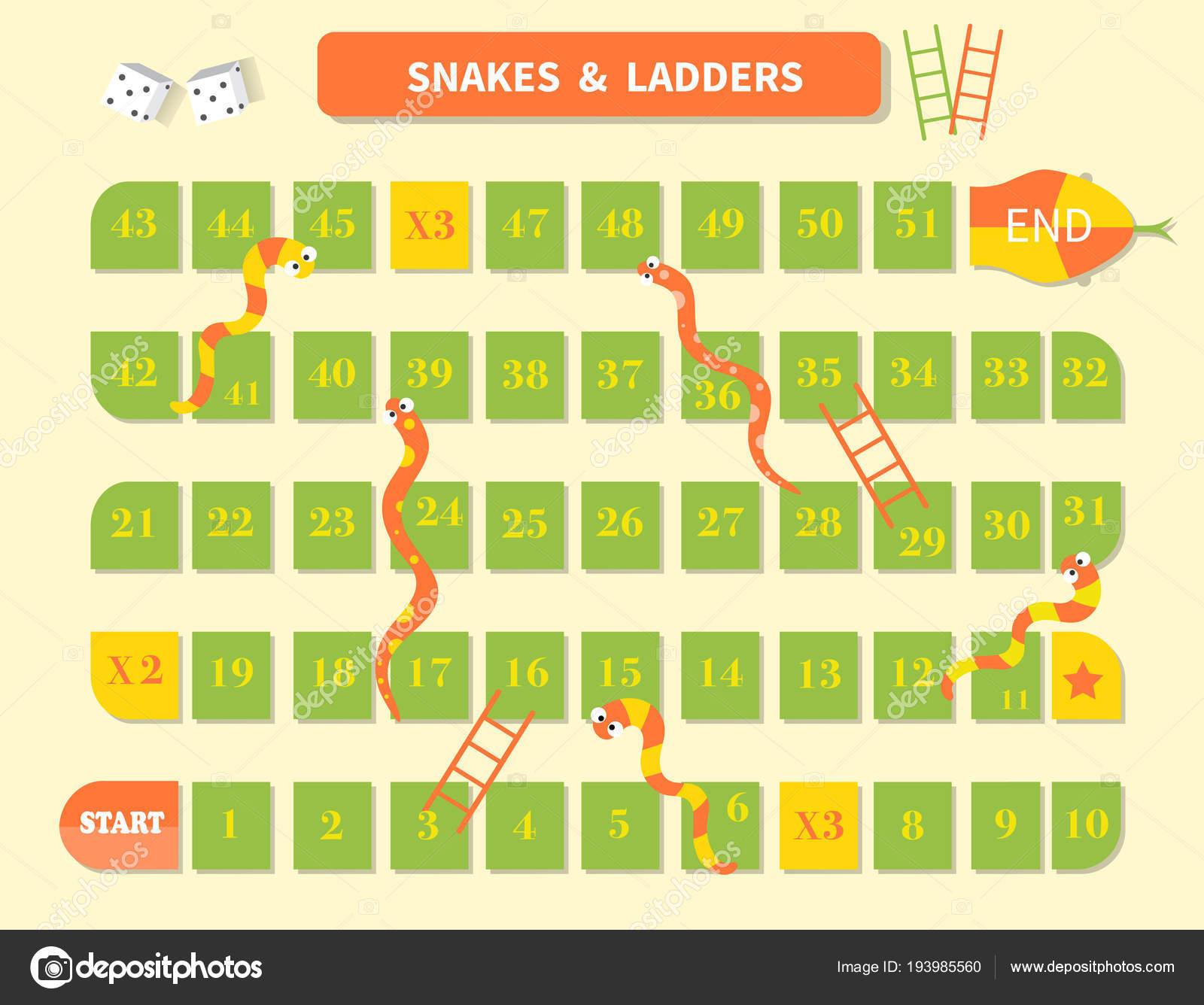 Escalera de serpientes marco juego, divertido para los niños ...