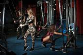 Dívky jsou vyškoleni v tělocvičně