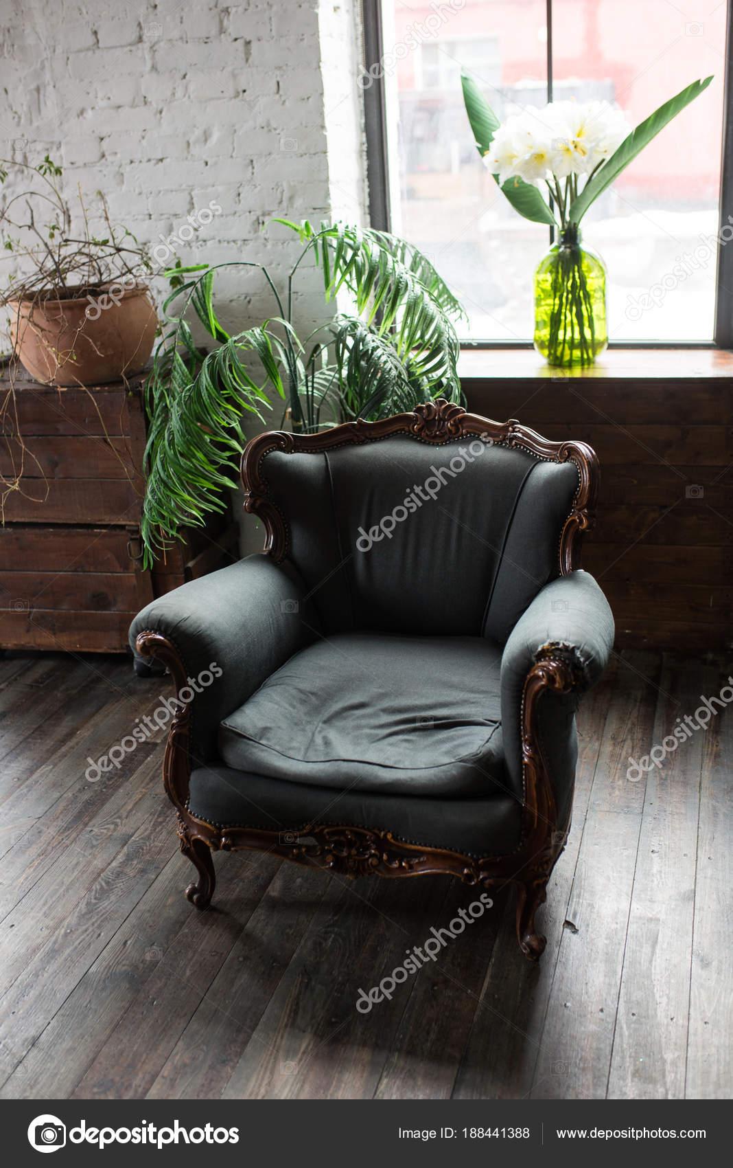 Klassischen Stil Grünen Sessel Sofacouch Vintage Zimmer Luxuriöse