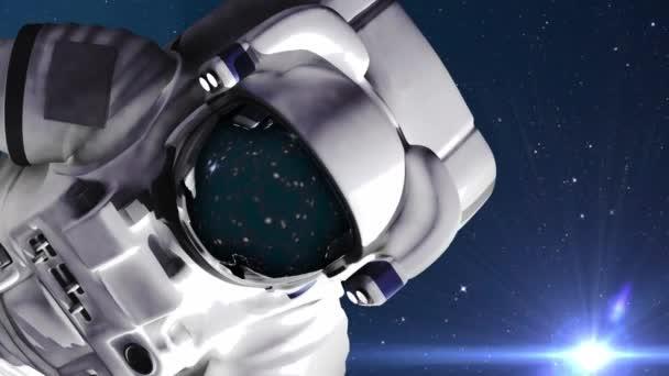 Astronaut im Weltraum gegen Sterne