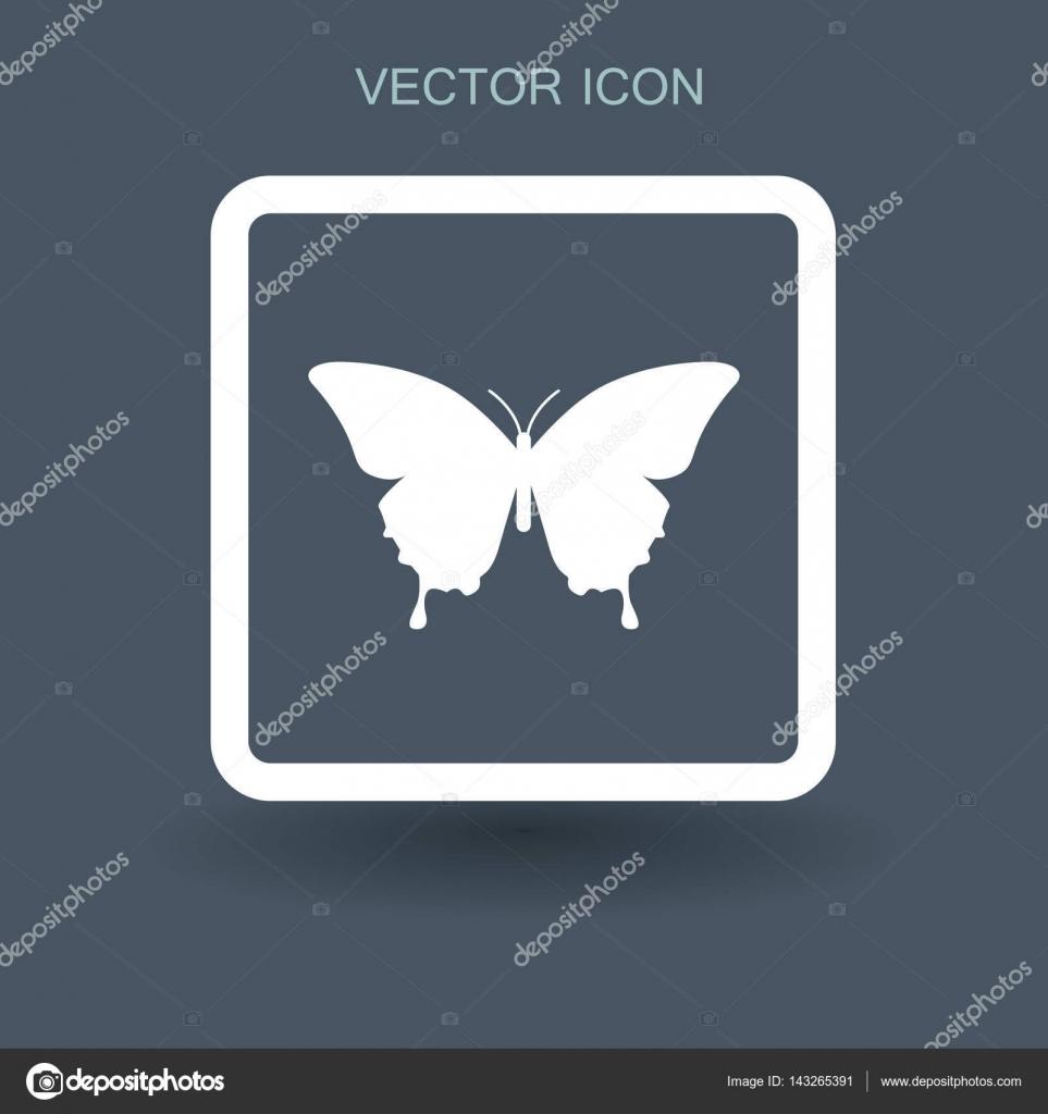 Schmetterling gerahmt-Vektor-illustration — Stockvektor ...