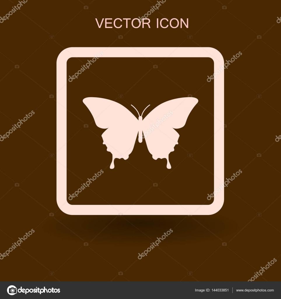 Ilustración de vector de mariposa enmarcada — Vector de stock ...