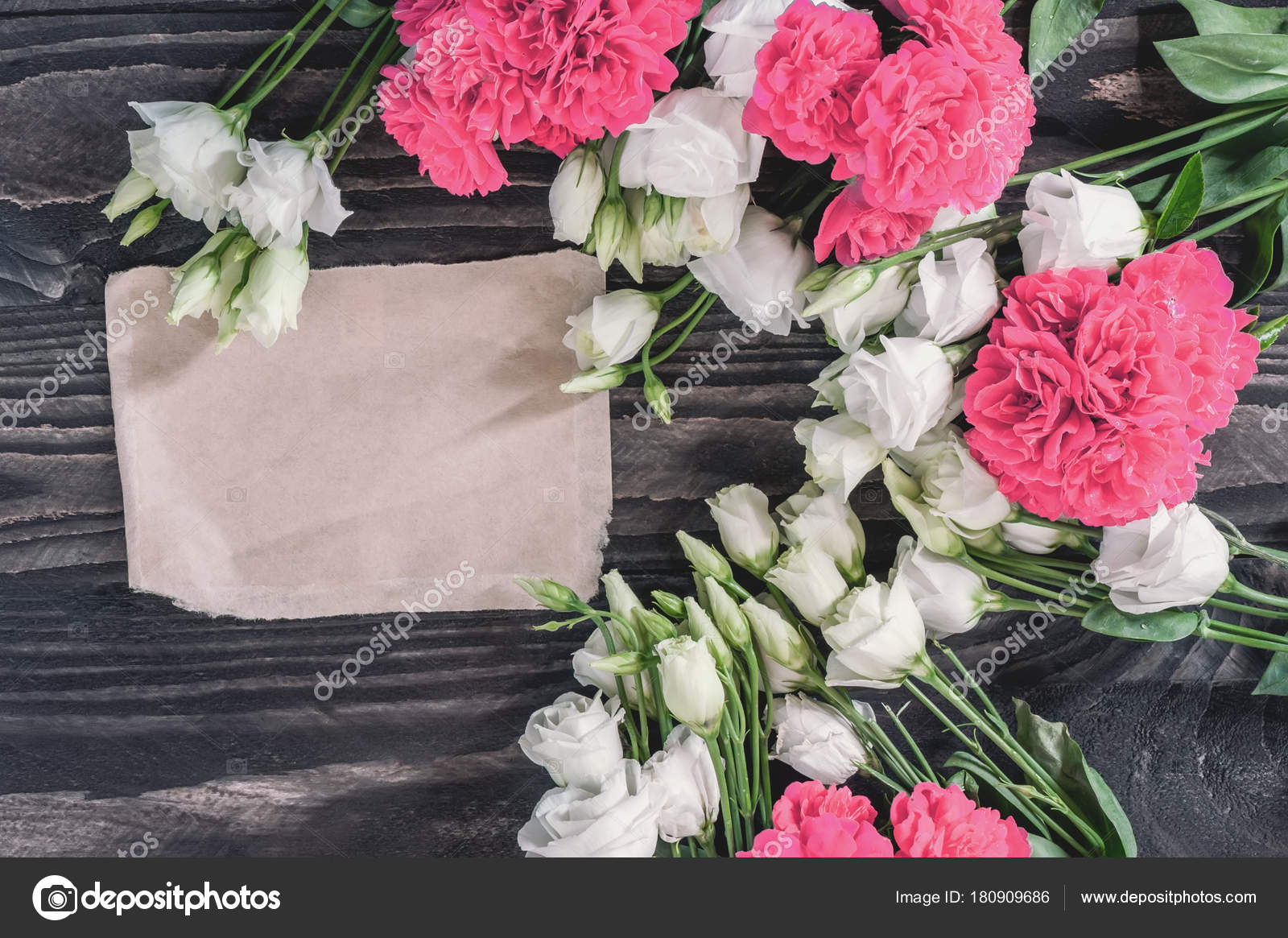 Beautiful Background Of Red And Pink Roses And White Eustoma Flowers