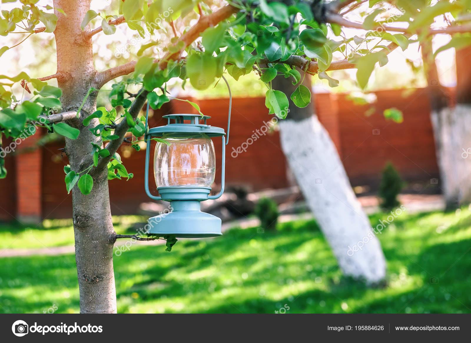 Decoration Verre Bleu Lampe Avec Bougies Suspendus Arbre ...