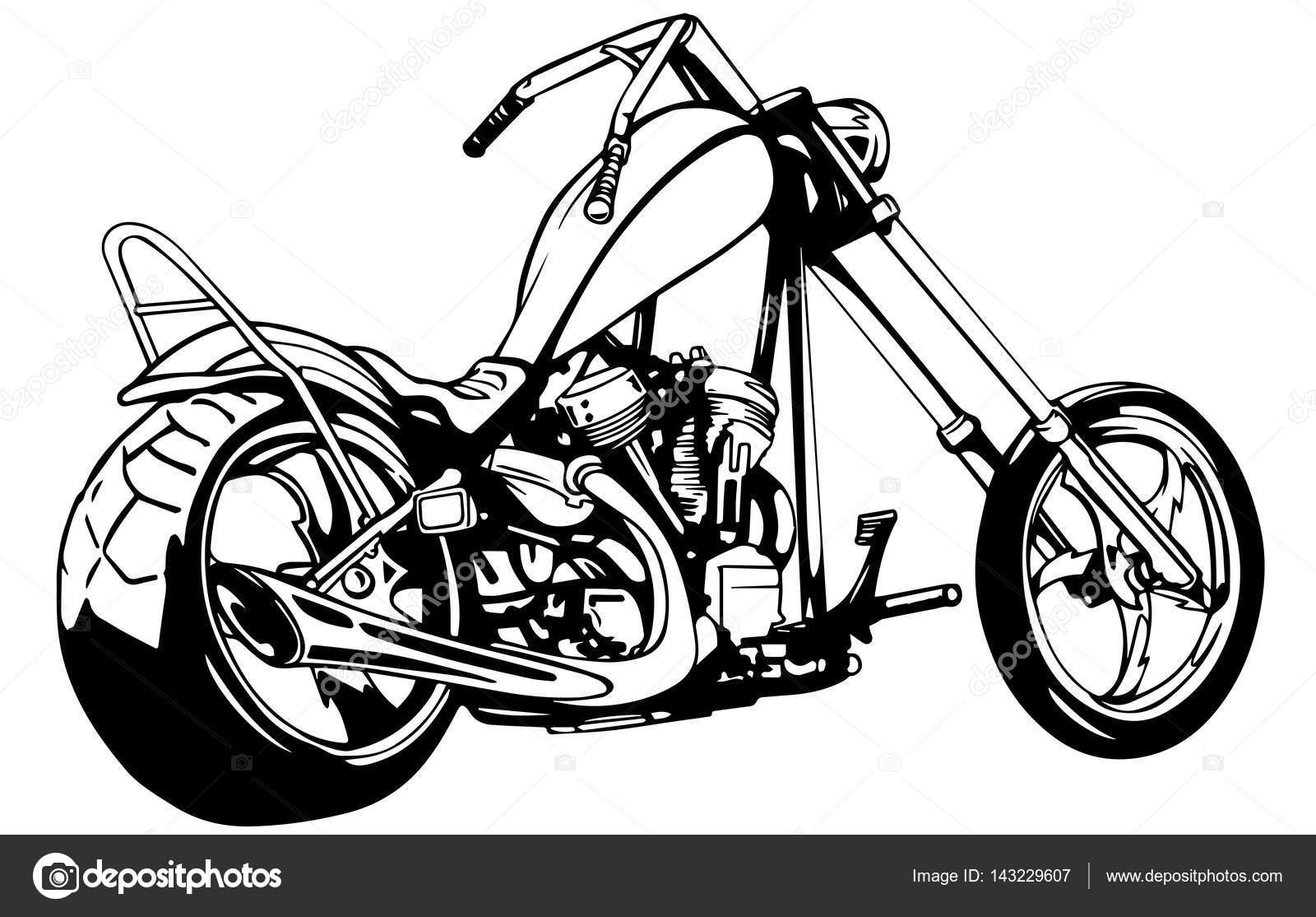 flaming bike chopper ride front view eps 10 vector free harley davidson logo stencils Harley-Davidson Stencil Patterns