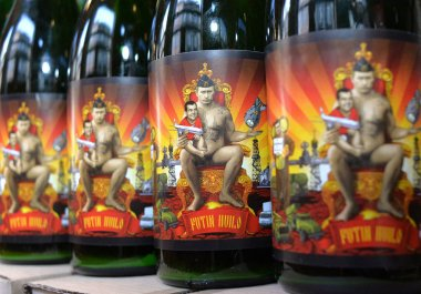 A bottles of beer featuring Russian President Vladimir Putin is called